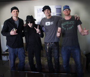 Bill and Justin Sloggatt with Motley Crüe